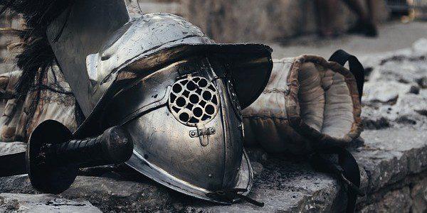 War Helmet and Sword