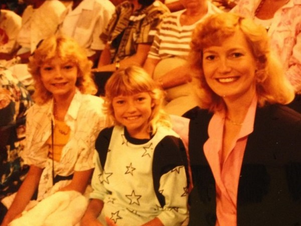 "This was taken in the TV audience of the Jim and Tammy Bakker show filmed at Heritage USA just outside of Charlotte, NC, in 1987. The show/church was known as PTL, ""Praise the Lord,"" or more justly named ""The cult in which my mother raised us."" When I express deep distaste for TV evangelism, I speak from a front-row perspective."
