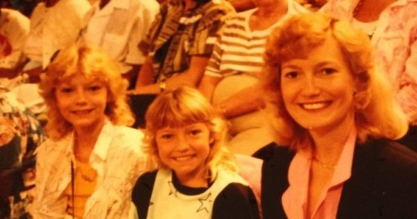 """This was taken in the TV audience of the Jim and Tammy Bakker show filmed at Heritage USA just outside of Charlotte, NC, in 1987. The show/church was known as PTL, """"Praise the Lord,"""" or more justly named """"The cult in which my mother raised us."""" When I express deep distaste for TV evangelism, I speak from a front-row perspective."""