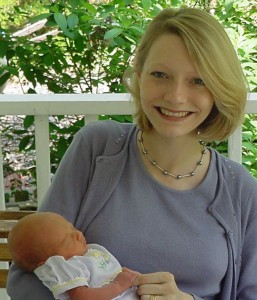 My first mother's day in 2002 with my 4 day old baby girl. ~Heron Michelle