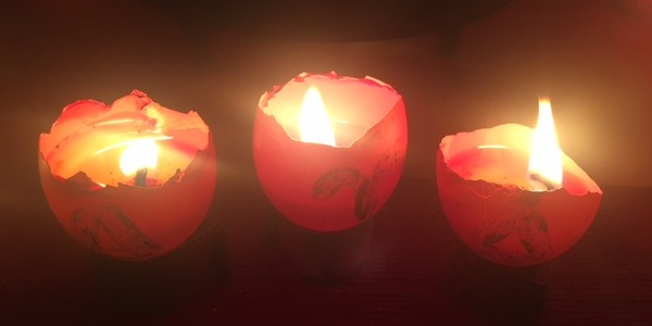 Fire of Aries Candles in our Ostara Rites, 2017 ~ Heron Michelle