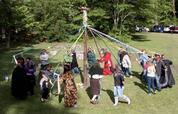 Dance of the Maypole by The Sojo Circle Coven Beltane 2017 - photo used by permission