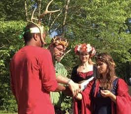 Sacred Marriage of King and Queen at Beltane 2016