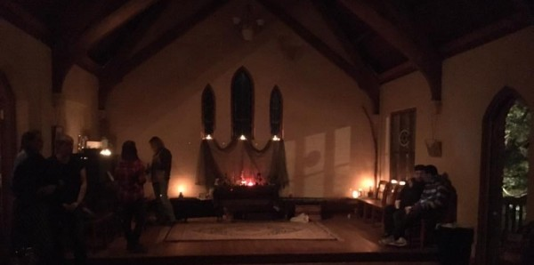 Chapel before the Morrison Ritual began with Jason Mankey - photo used with permission 2016