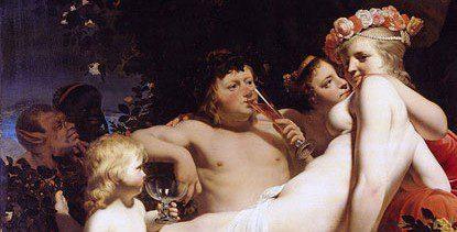 Bacchus (Dionysus) and Ariadne by Caesar Van Everdingen 1660