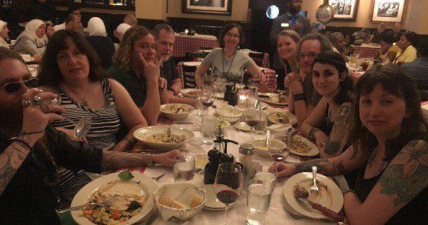 Patheos Writers Dinner hosted by Jason and Ari Mankey - Photo credit to Ari Mankey