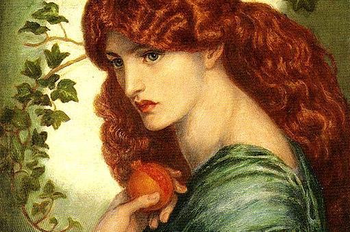 """Proserpina"" by Dante Proserpina by Dante Gabriel Rossetti [Public domain], via Wikimedia Commons"