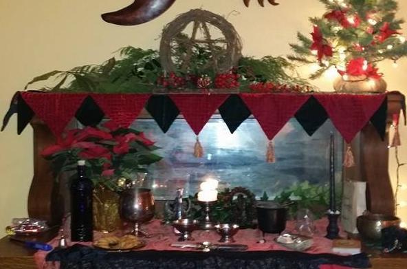 Sojo Circle Yule Sabbat Altar 2013