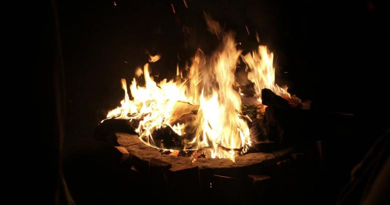 The Effigy Burns in the Funeral Pyres, Photo Credit: Webweaver