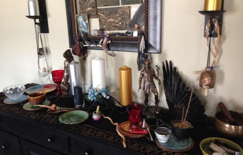 Freshly Prepared Imbolc Altar - Heron Michelle