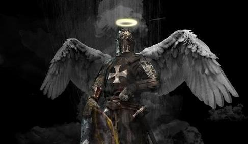 Armored Knight with angel wings and halo