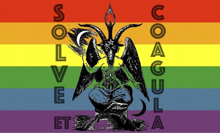 Baphomet Rainbow Solve Et Coagula Alchemical Band