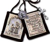 Brown Scapular of Our Lady of Mount Carmel. Mine looks like this one!