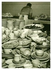 High on a mountain of ... Dishes?