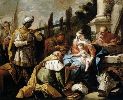 Adoration of the Magi Gaspare Diziani 1718 Oil on Canvas Museum of Fine Arts Budapest