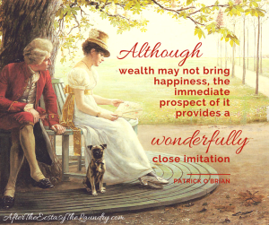Although wealth may not bring happiness