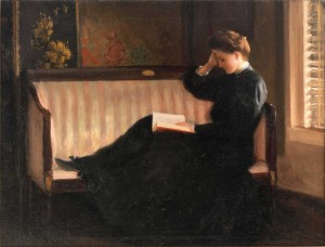 Woman Reading On A Settee William Worchester Churchill