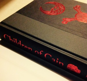 "The beautifully embossed cover of my copy of ""children of Cain"" by Michael Howard"