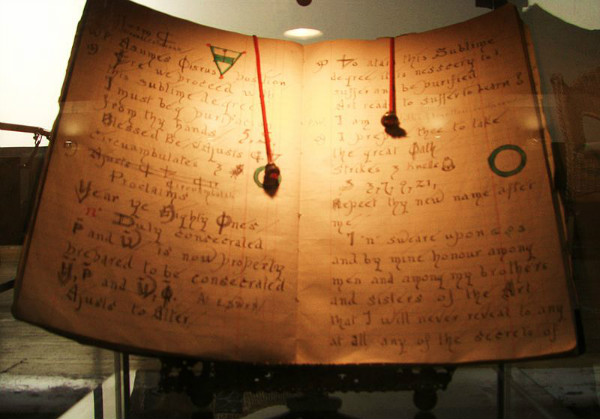 Gerald Gardner's Book of Shadows, photo by Midnightblueowl.  From WikiMedia.