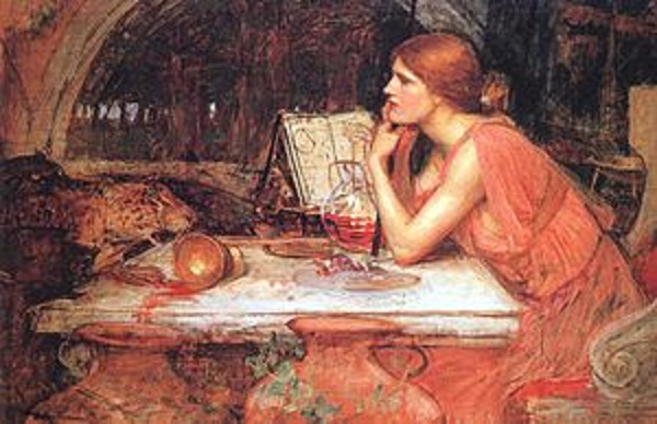 The Sorceress by John William Waterhouse, 1911.  Wikipedia images.