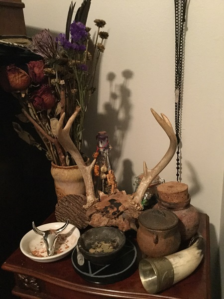 Bedside Altar. Photo by Coby Michael.