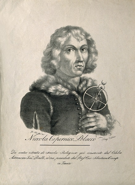 Nicolaus Copernicus. Lithograph by Salucci after G. Colzi. (Wikimedia Creative Commons.)