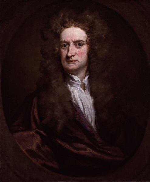 Sir Isaac Newton by Sir Godfrey Kneller. (Wikimedia commons)