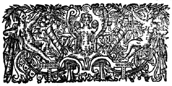 Three books of Occult Philosophy.  Woodcut. Public domain.