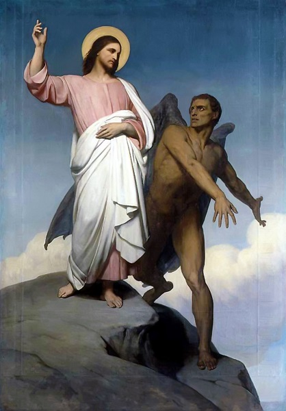 The Temptation of Christ. Ary Scheffer. 1854. Wikipedia Commons.