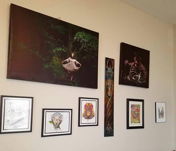 Artwork by RC Artistry, Laura Tempest Zarkoff, Zaheroux, and Nurhan Gokturk. Photo by Carey Ward.