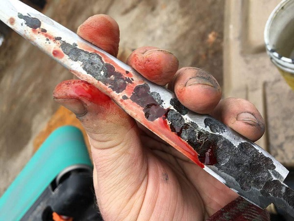 Bradbury's blood, sweat and tears goes into the creation of his athame's. Photo courtesy of Artes and Craft. Used with permission.