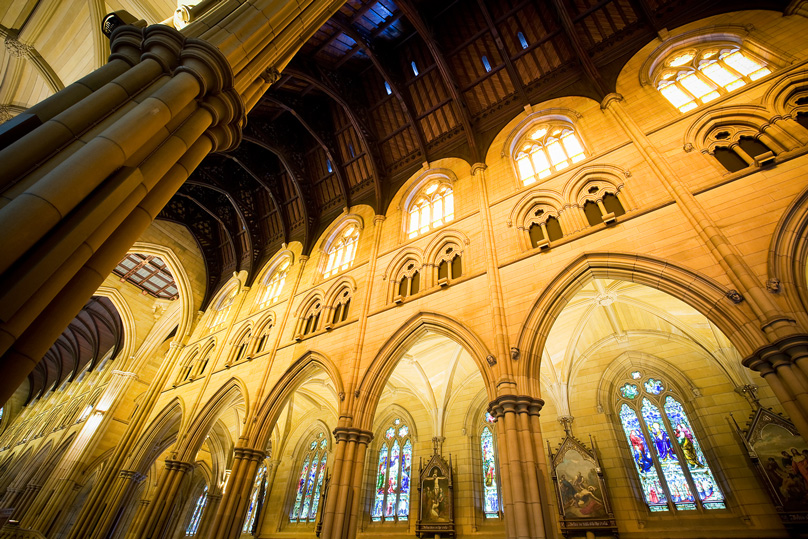A view inside St Mary's Cathedral, Sydney. Photo: Giovanni Portelli