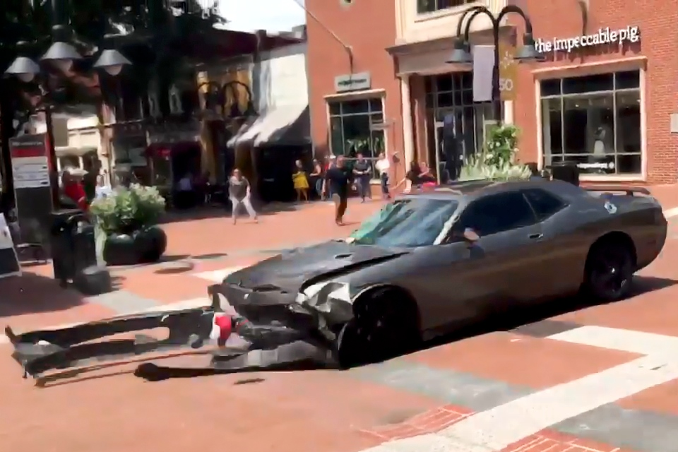 The vehicle a Nazi rammed into anti-fascists in Charlottesville.