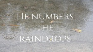 He numbers the raindrops