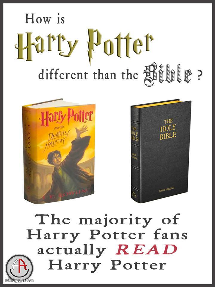 How is Harry Potter different than the Bible