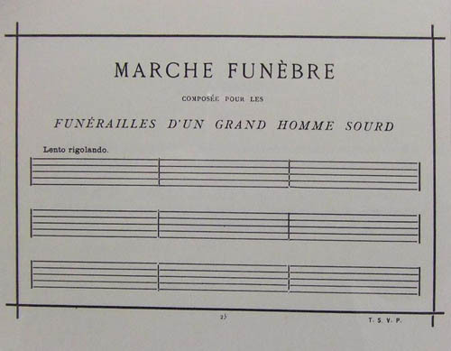 Funeral March for the Obsequies of a Deaf Man
