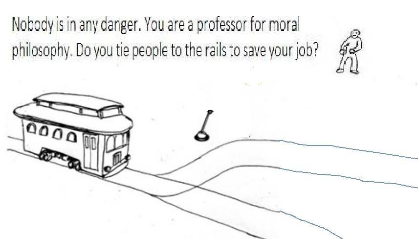 Philosopher's job trolley problem