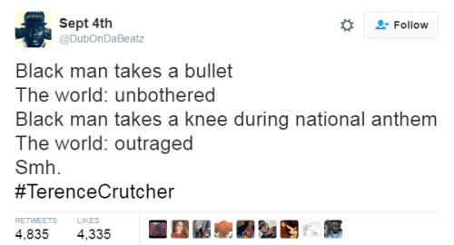 take a knee or a bullet