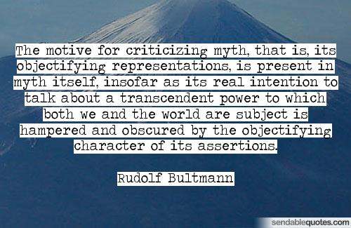 Bultmann quote