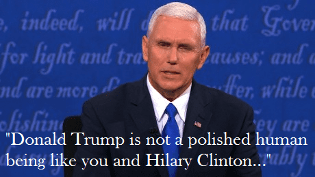 Trump not polished