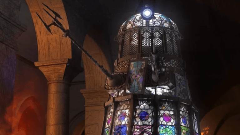 stained glass Dalek