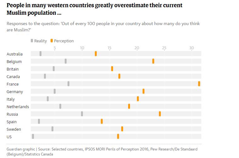 Muslim population perception reality