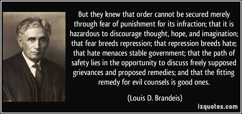 quote-but-they-knew-that-order-cannot-be-secured-merely-through-fear-of-punishment-for-its-infraction-louis-d-brandeis-303927