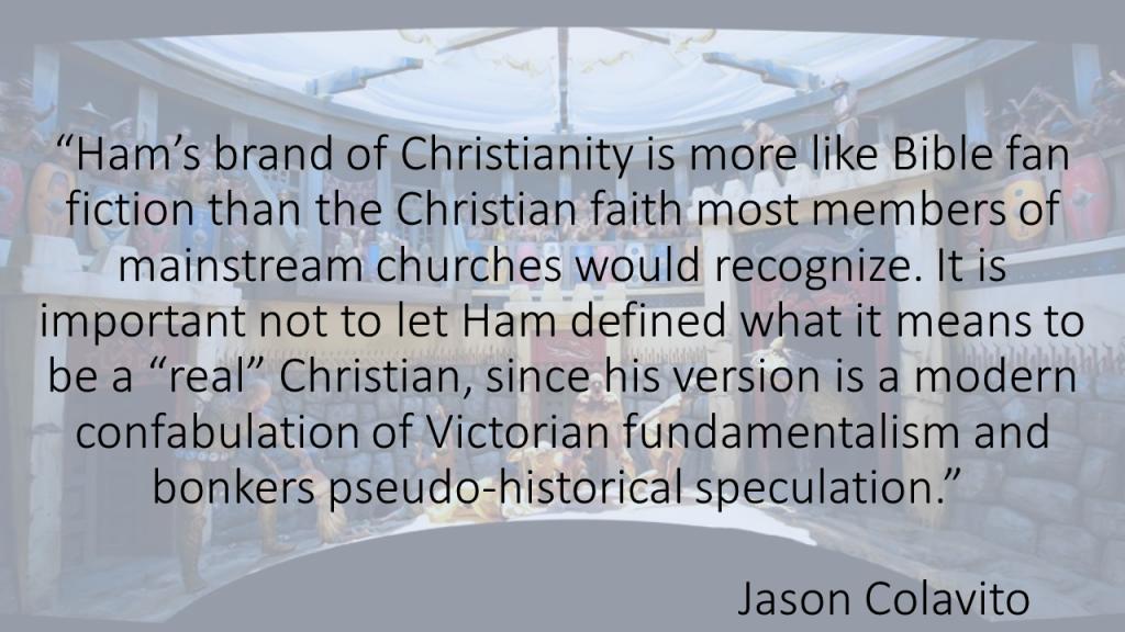 Ham's brand of Christianity