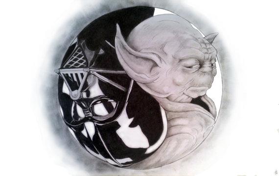 Vader Yoda Yin Yang