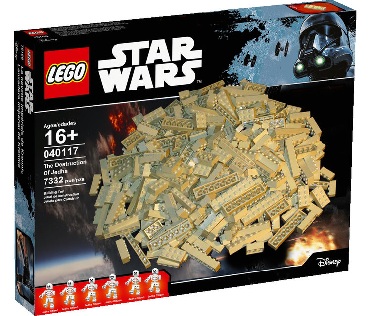 LEGO Destruction of Jedha