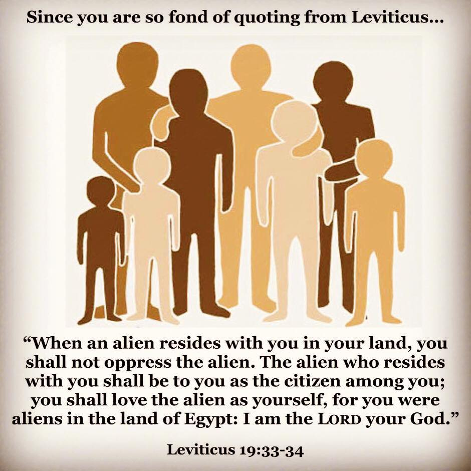 Fond of quoting Leviticus