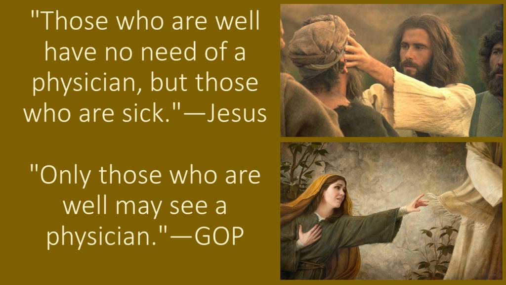 Jesus vs GOP
