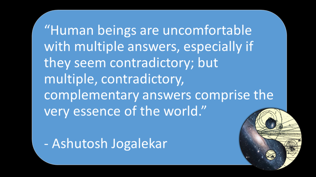Uncomfortable with contradictions