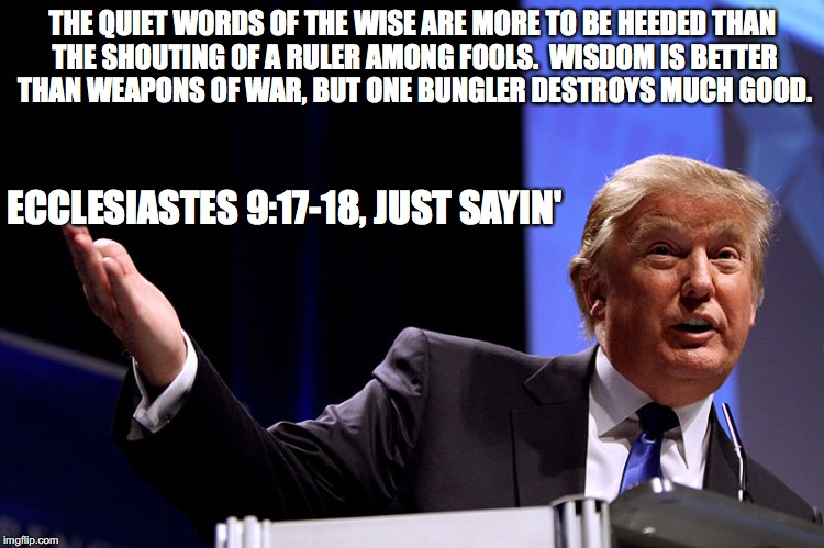 Ecclesiastes Just Sayin